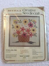 Bucilla Creative Needlecraft Kit 8528 Basket Flowers Picture/Wall Panel 22x22