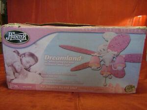 """Hunter Dreamland 44"""" Ceiling Fan 23781 Pink Flowers & Butterflies New Girls"""