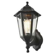 Outdoor Traditional Wall Lantern 1 Light IP44 Garden Light Lamp Black Litecraft