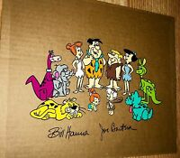 flintstones hanna barbera signed cel extremely rare publicity animation art cell