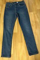 H&M  High Waist Skinny Ankle Jeans Size 10 28L Ladies Womens Med /Dark Blue