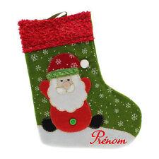 Botte Chaussette de Noël pour Sapin avec Prénom Personnalisé - Père Noël