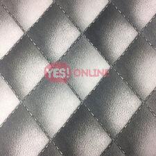 Tête de lit Papier peint en Faux Cuir Look Matelassé Rembourré Gris Moderne comme création