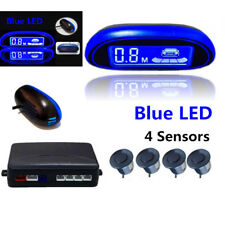 Blue Screen Car Parking Reverse Backup Radar Monitor Detector 4Sensor Waterproof