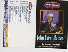 """John Entwistle of The Who 10/20/2001 not sure of year Promo Glossy 4"""" x 6"""" Card"""