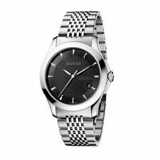 Gucci G-Timeless YA126402 Men's Watch - Stainless Steel Bracelet/Black Dial