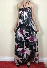 TED BAKER Women's Full Length Occasion Silk Dress Size 10 UK VGC