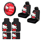 Sanrio Hello Kitty Core Car Truck Floor Mats Steering Wheel Cover Seat Covers