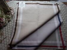6 mouchoirs homme 100% coton tissées n°317