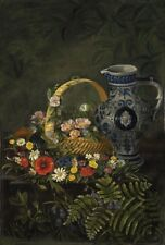 Floral Still Life. Canvas reproduction.