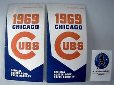 1969 CHICAGO CUBS MEDIA GUIDE - SPRING & MID SEASON EDITIONS  -LOT OF 2-
