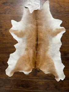 Cowhide Rug Exotic Brown&White real Hair on Cow Hide Skin Area Rugs