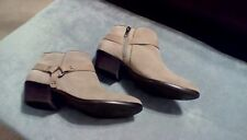 Franco Sarto Suede Leather Ankle Boots Putty Colored  8.5