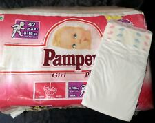 Vintage Pampers Phases Diaper Sz Maxi for Girls Europe Import