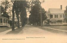 Claremont New Hampshire~Bond Street Big Homes~Dirt Road~1910 Swallow Postcard