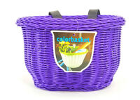 ColorBasket Oval Child Front Bicycle Basket 10 x 7 x 6.75 Purple