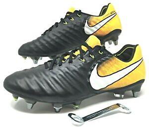 Nike Tiempo Legend VII Elite SG-PRO Sz 7 Soccer Cleats Black Orange (897753-009)