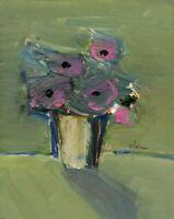 """Salvatore D'Imperio - Mista su tavola - """"Vaso con fiori""""-  24x30"""