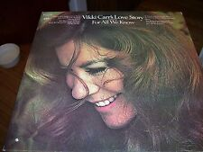 VIKKI CARR'S LOVE STORY FEATURING FOR ALL WE KNOW-LP-VG-COLUMBIA