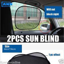 KHABRO | CAR MESH – FOLDABLE CAR WINDOW SUNSHADE GLASS SUN SHADE | BLACK - 2 PC