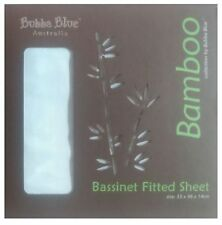 Bubba Blue Bamboo Bassinet Fitted Sheet White