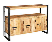 UP-Cycled Industrial Style Sideboard with 3 Doors made from Metal & Wood ID15