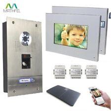 """Fingerprint Video  Türsprechanlage 2 x 7"""" Monitor (weiß) und WLAN"""