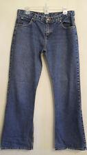 "Hurley Womens Blue Jeans Classic Rise Retro Boot Cut Denim size 9 inseam 32"" ✿"