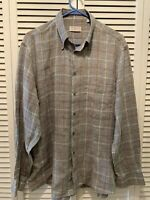 LUBIAM Made In Italy Men's Shirt Size 16 Gray And Brown