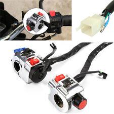 "1 Pair Motorcycle Aluminum 7/8"" Handlebar Control Horn Lights Starter Switch 12V"