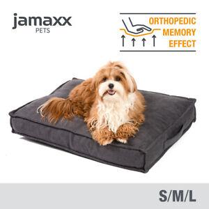 JAMAXX Premium Hundekissen - Waschbar - orthopädische Memory Visco Füllung, grau