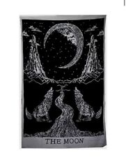 Crying Wolf of The Moon Tapestry Wall Hanging Bohemian Bed Sheet Wall Art
