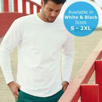 Fruit of the Loom Super Premium Long Sleeve Men's Women's Uni Tee T-Shirt FOTL