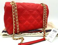 NWT $528 Tory Burch Fleming Quilted Soft Leather Convertible Shoulder CrossBody