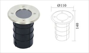Ground light outdoor light Round S/Steel HiGrade Walkover/Drive over IP67 GU10