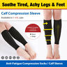 Calf Medical Compression Sleeve Socks Hose Support Varicose Travel Flight Nurses