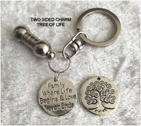 Cremation Jewellery Ashes Urn Keyring w Family Where.. Funeral Keepsake Memorial