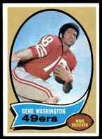 1970 Topps #81 Gene Washington NICE ROOKIE San Francisco 49ers / Stanford