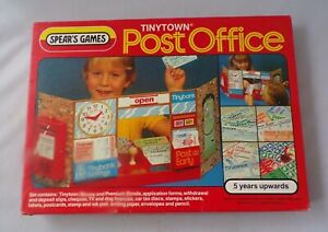 Vintage 1983 Spears Games TinyTown Post Office Set Classic Retro Toy Stamp