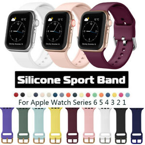 For Apple Watch Series 1 2 3 4 5 6 Silicone Sport Watch Band Strap 38/40/42/44mm