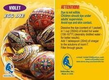 Pysanka/Pysanky, Easter Egg Art, Violet  Egg Dye, Soloveiko Inc.