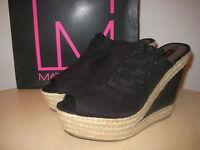 Material Girl Size 9.5 M MALVIRA Black Sandals New Womens Shoes