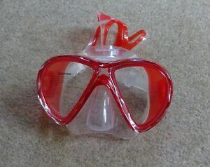 Mares Red Liquid Skin X-VU Diving / Snorkelling Mask - BNWT