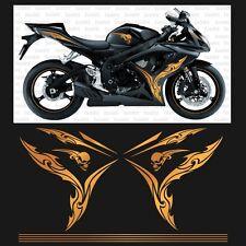 Motorrad Aufkleber passend für Suzuki GSXR 600 750 K6 K7 tattoo-gold