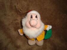 "Disney Dwarf Bashful Plush Beanbag Christmas Ornament 4.5"" tall"