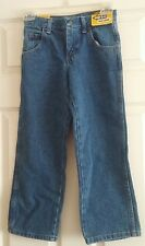 """NWT Boys """"Wrangler"""" Legendary Gold Relaxed Fit Adjust-To-Fit Waistband Jeans 8R"""