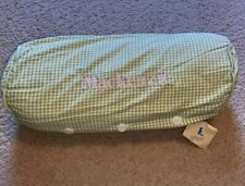 Vintage Pottery Barn Kids Embroidered Mackenzie Pillow Green Plaid Pink Girl's