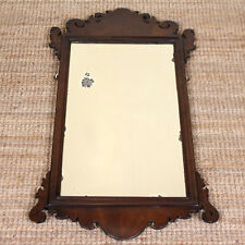 Antique Georgian Chippendale Mirror George IV Carved Mahogany Wall Mirror
