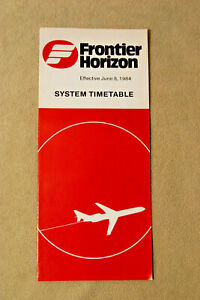Frontier Horizon Airlines Timetable - June 8, 1984