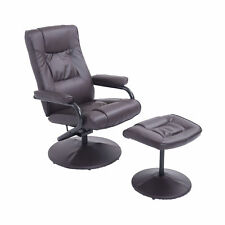 Recliner Arm Chair Executive Swivel Armchair Lounger Seat w/ Footrest Foot Stool